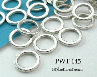 12mm Pewter Jump Ring Connector Closed Large (PWT 145) 22 pcs BlueEchoBeads