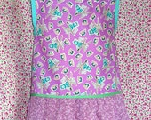 Girl and Doll Apron Set, Sz.8-10 Girl, 18 in. Doll-American Girl Style, Purple/Lilac