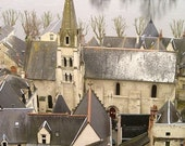 French Village HIstory Old World Chinon 8X10 Print