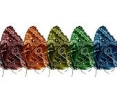 Flying Colors Butterfly Collage-12X24 Panoramic from Original Photograph