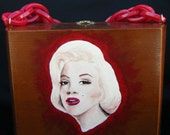 Marilyn Monroe Cigar Box Purse Hand Painted with Free Shipping