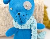 Blue\/Light Blue Hand Made Glove Puppy