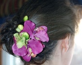 Dazzling Orchids for Your Hair