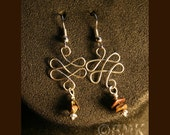 Tiger's Eye Earrings - from Earth Child Collection