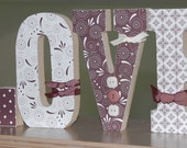 wood letter home decor -- LOVE
