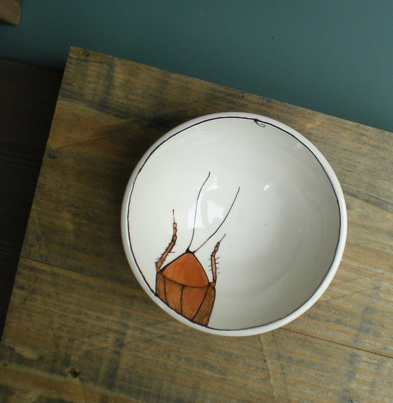 small cockroach bowl insect dish valentine's gift for