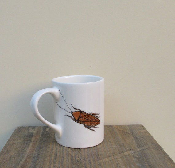ceramic cockroach coffee cup