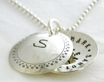 Personalized Locket - My Secret Message hand stamped and personalized sterling silver faux locket
