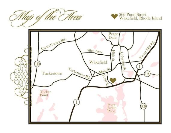 Custom Designed Wedding Map