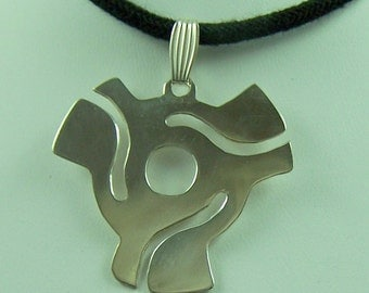 45 Adapter Sterling Silver Pendant - Free shipping USA