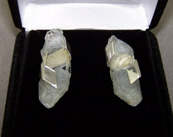 Quartz and Sterling Silver Post Earrings