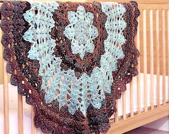 Star Blanket Crochet Pattern - Quick and Easy - Suitable for Baby Blanket / Ladies Shawl / Wheelchair Blanket - UK & US Crochet Terms