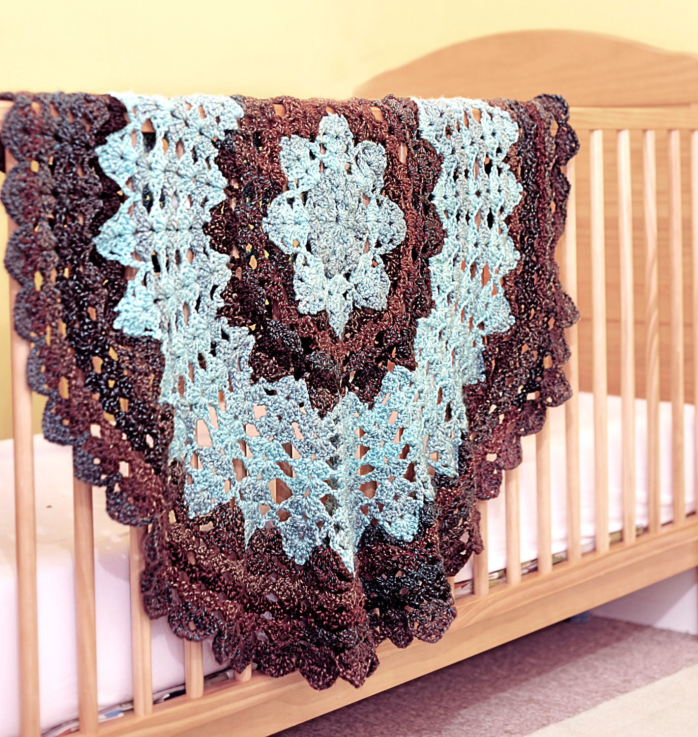 Crochet Baby Blanket Circular Pattern : Star Blanket Crochet Pattern Quick and Easy Suitable for