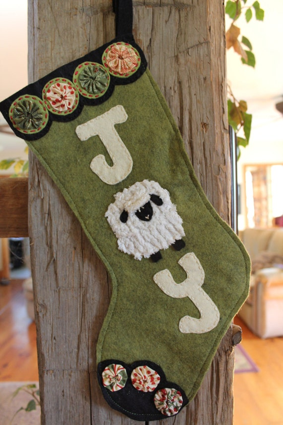 Ewe-La Christmas Sheep Stocking Ornament