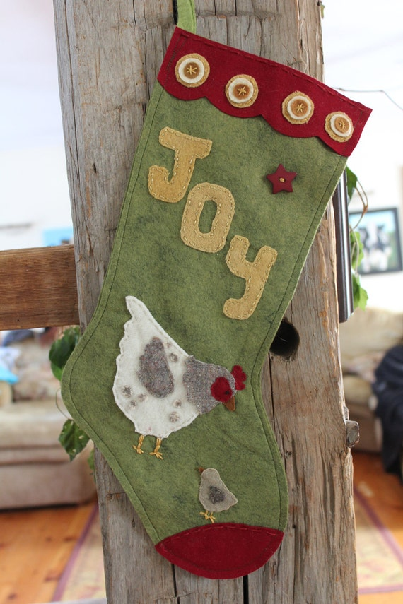 Ewe-La Christmas Chicken Hen   Stocking Ornament