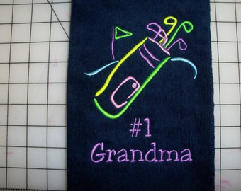 Personalized Ladies Golf Towel