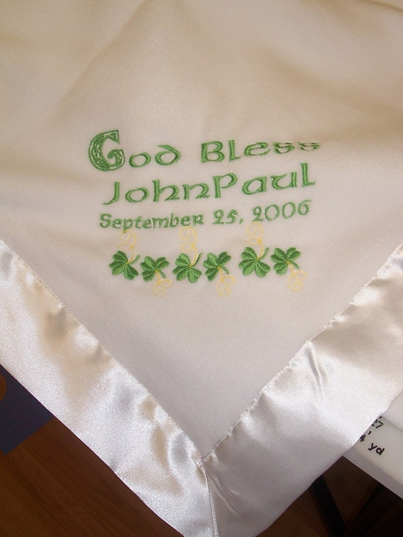 Personalized Baby Gifts Ireland : Items similar to personalized irish baby blanket