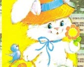 Vintage Happy Easter Mommy card
