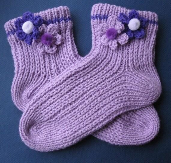 Easy, Quick Slipper Socks PDF pattern
