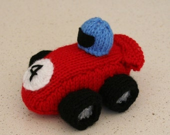 Race Car - INSTANT DOWNLOAD PDF Knitting Pattern