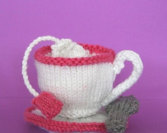 Tea Time - INSTANT DOWNLOAD PDF Knitting Pattern