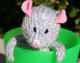 2 Tiny Mice patterns - INSTANT DOWNLOAD PDF Knitting Pattern