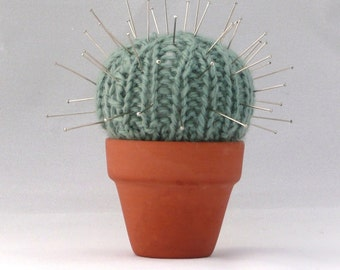 Quick and Easy Cactus Pin Cushion - INSTANT DOWNLOAD PDF Knitting Pattern