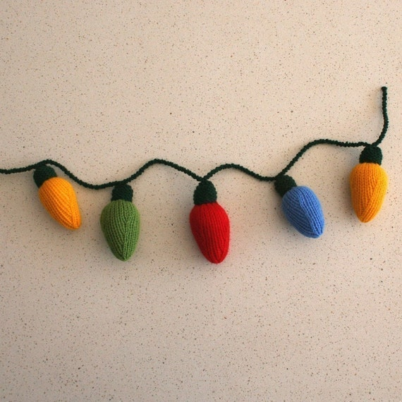 Christmas lights - INSTANT DOWNLOAD PDF Knitting Pattern