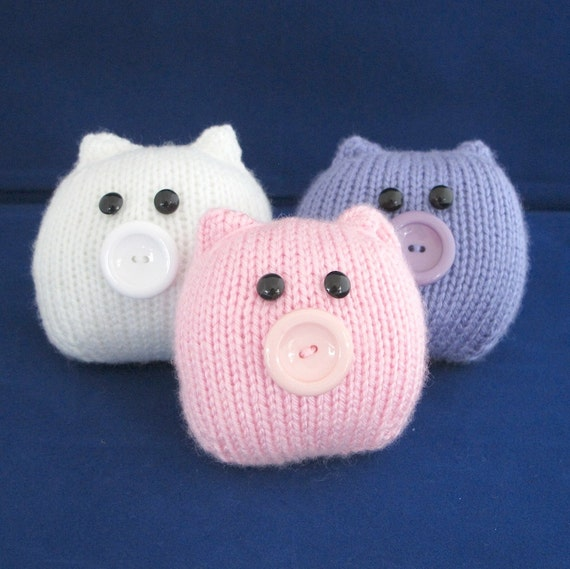 This Little Piggy........ Quick and Very Easy - INSTANT DOWNLOAD PDF Knitting Pattern