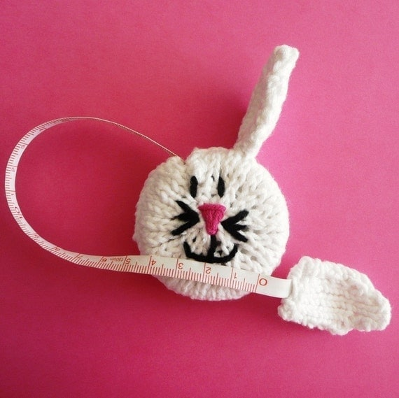 Bunny Rabbit Tape Measure - PDF KNITTING PATTERN