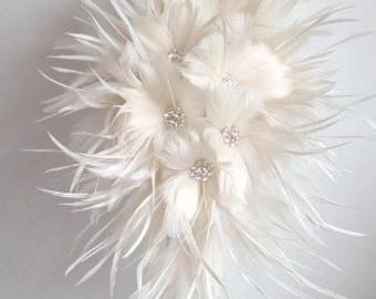 Feather Brides Bouquet