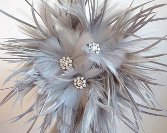 Feather Brides Maids  Bouquet