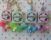 Ladybug Scrabble Tile Necklace choose your color