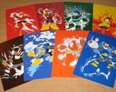 Mega Man 2 Robot Master Mini-Prints Set of 8