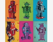 ColorBots - Bright Summery Robot Posters