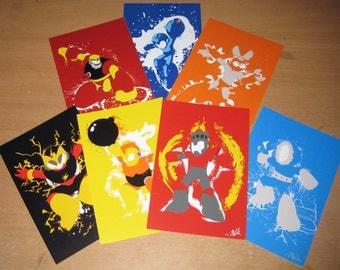 Robot Masters of Mega Man 1 Mini-Print set