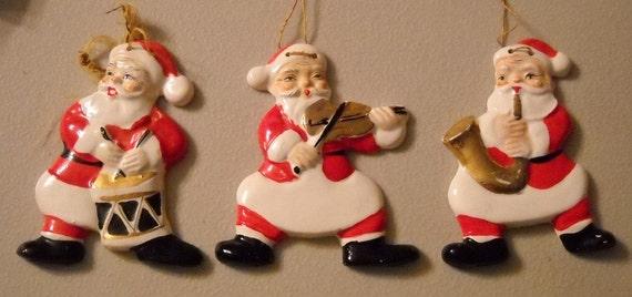 Yona Originals Santa Ornaments Santas Ragtime Band