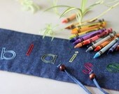 Personalized crayon roll