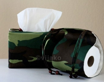 Military style bath accessory set
