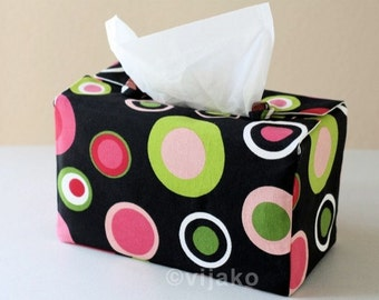Beautiful polka dots tissue box cover