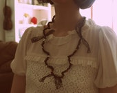 Matilde necklace - crochet and lace