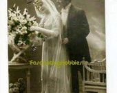 Elegant WEDDING Couple - CONGRATULATIONS - 1922 - French POSTCARD
