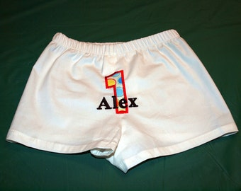 Birthday Boxer Diaper Cover Boutique Custom Monogrammed Personalized
