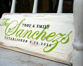 CUSTOM Wedding and family name signs and plaques