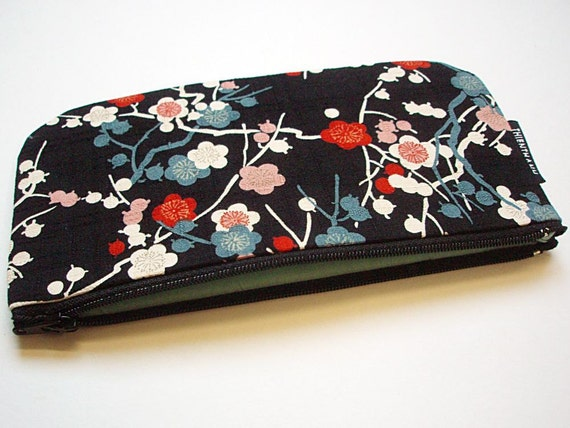 NEW - long zipper pouch - pen pouch - ready to ship