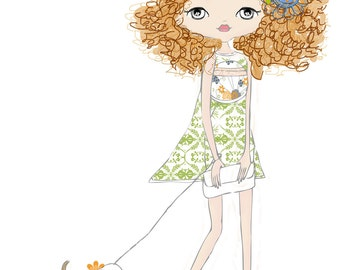 Sweet and Sassy Girl Illustration