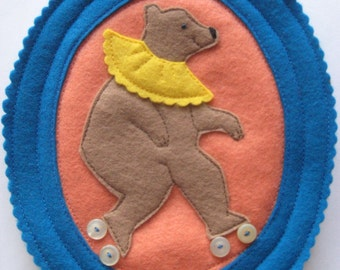 Plush Framed Bear - Royal Blue