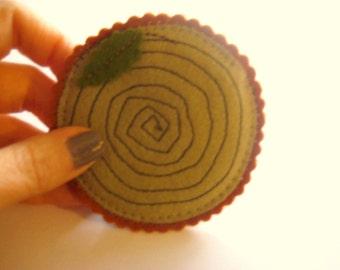 Slice o' Wood Pin