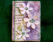 "CLEARANCE SALE plus Free SHIPPING ""Forest Flowers"" Art Quilt Aceo"