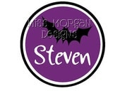Halloween Bat Personalized Name  iron on decal vinyl for shirt